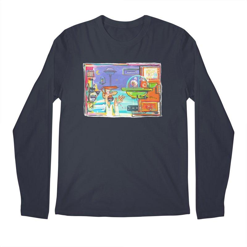 Space Family Men's Regular Longsleeve T-Shirt by Steve Dressler Illustration & Design