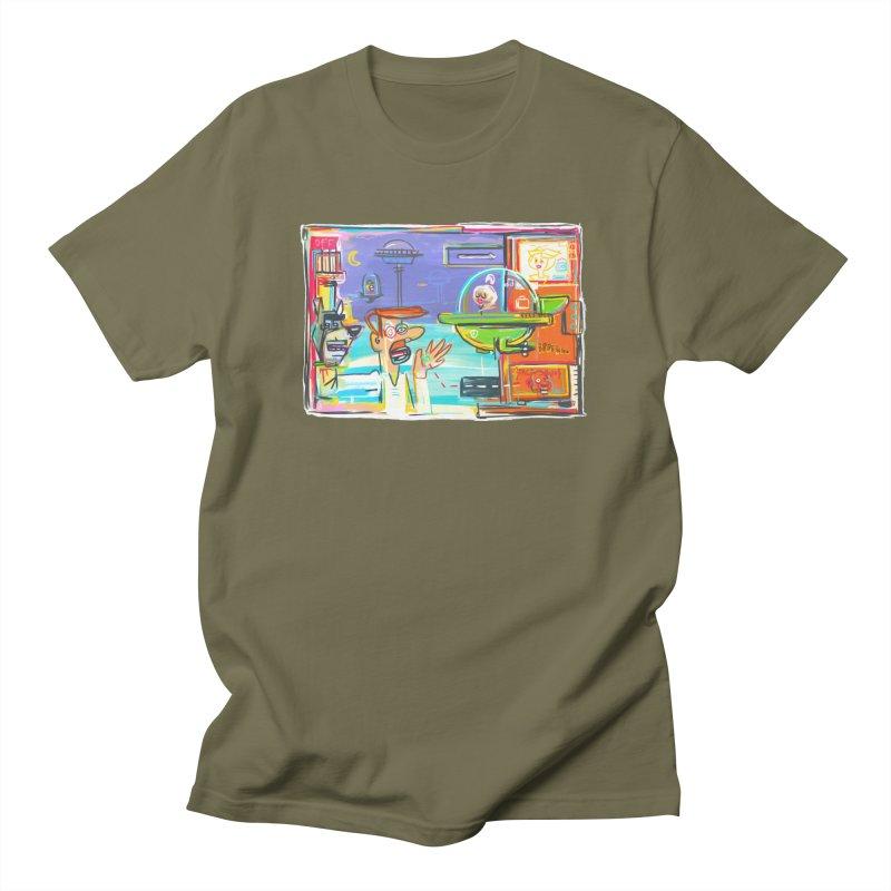 Space Family Men's Regular T-Shirt by Steve Dressler Illustration & Design