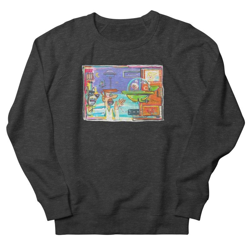 Space Family Men's French Terry Sweatshirt by Steve Dressler Illustration & Design