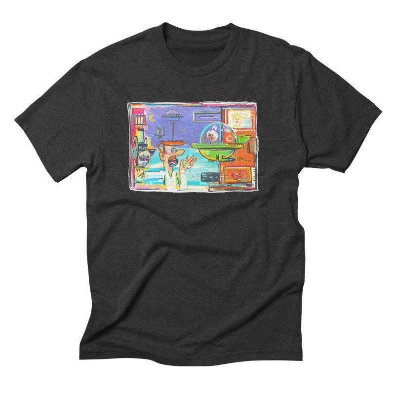 Space Family Men's Triblend T-Shirt by Steve Dressler Illustration & Design