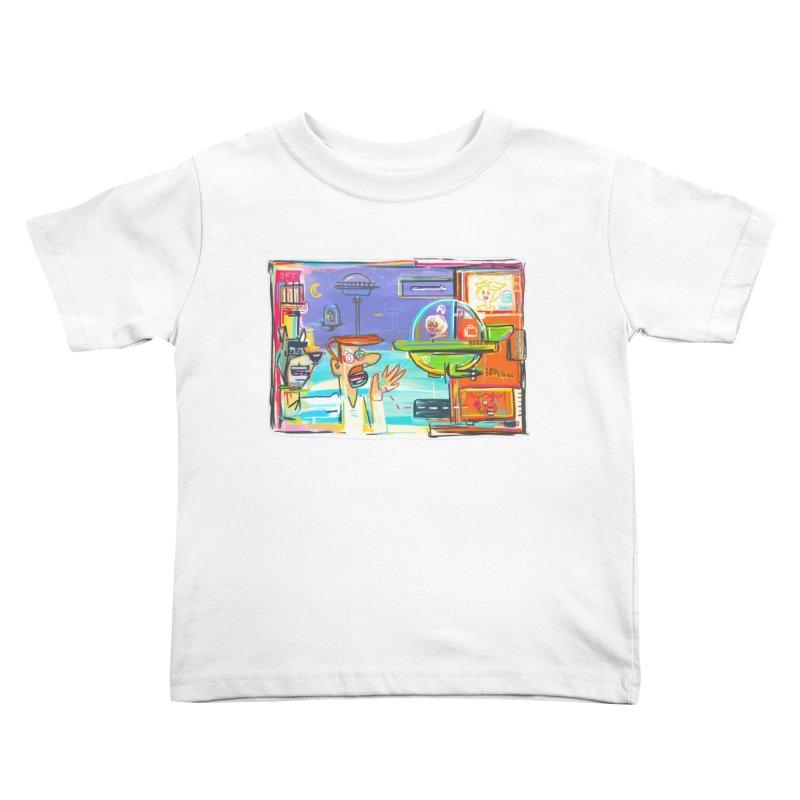 Space Family Kids Toddler T-Shirt by Steve Dressler Illustration & Design