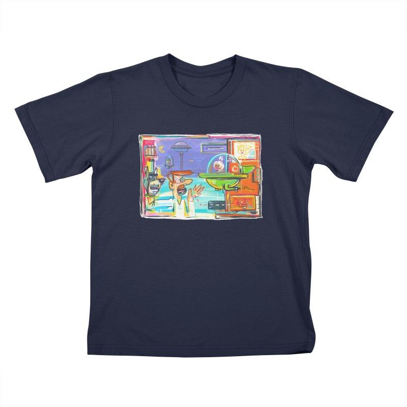 Space Family Kids T-Shirt by Steve Dressler Illustration & Design