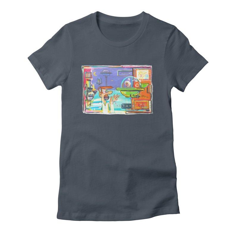 Space Family Women's T-Shirt by Steve Dressler Illustration & Design
