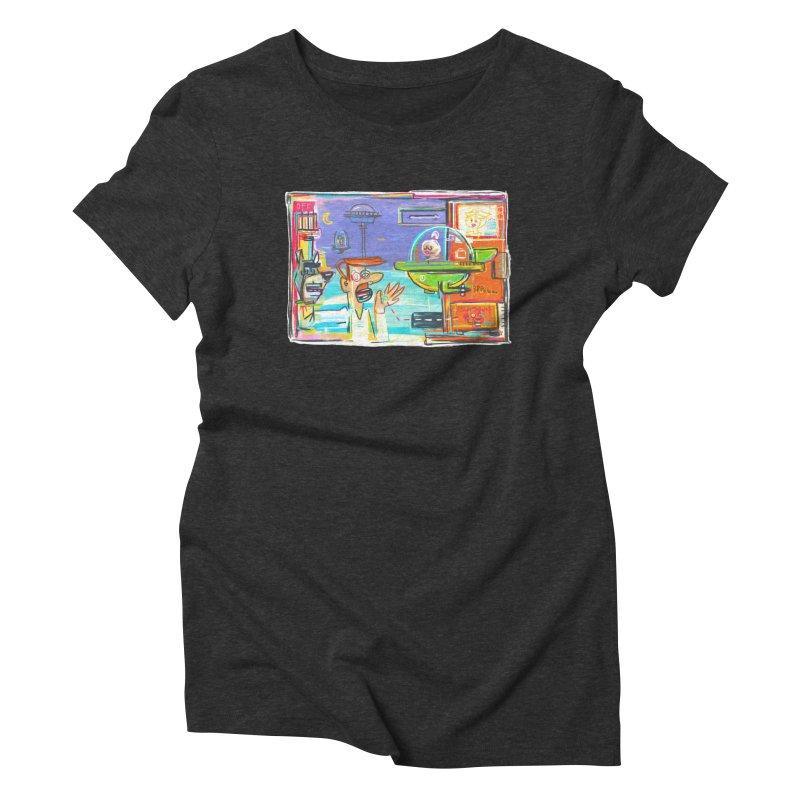 Space Family Women's Triblend T-Shirt by Steve Dressler Illustration & Design