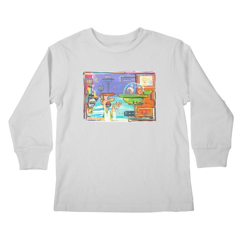 Space Family Kids Longsleeve T-Shirt by Steve Dressler Illustration & Design