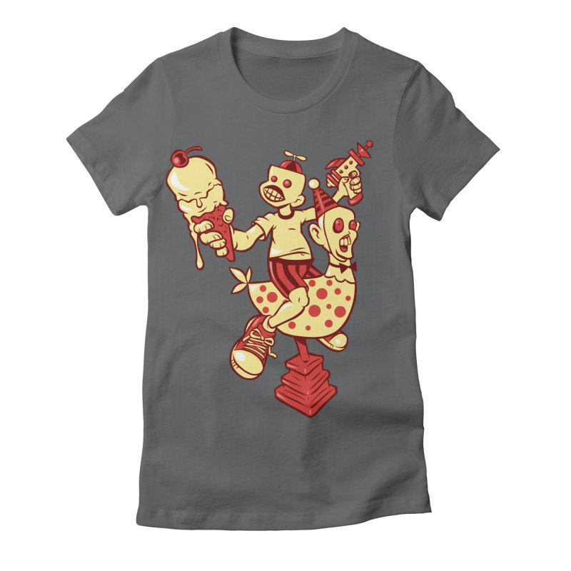 Childhood Women's Fitted T-Shirt by Acid Keg Industries