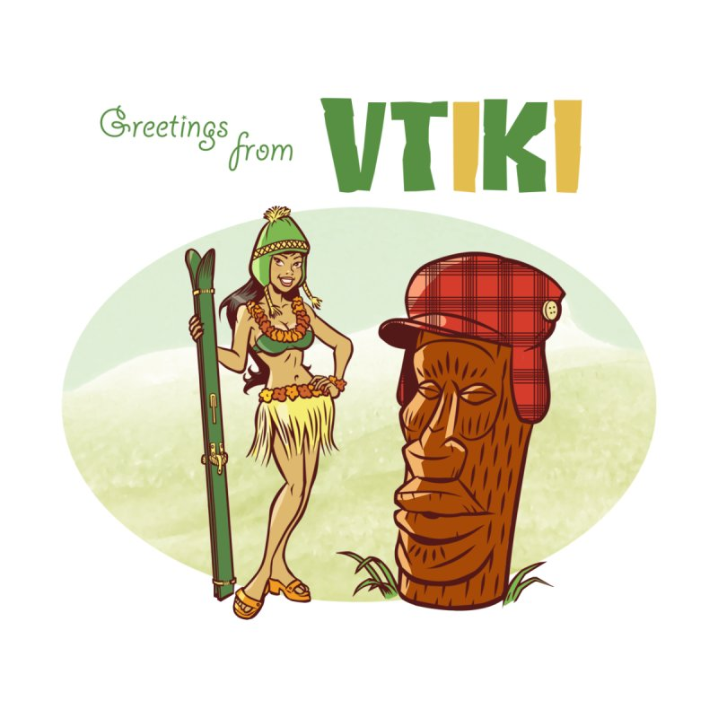 VTiki Men's T-shirt by Acid Keg Industries
