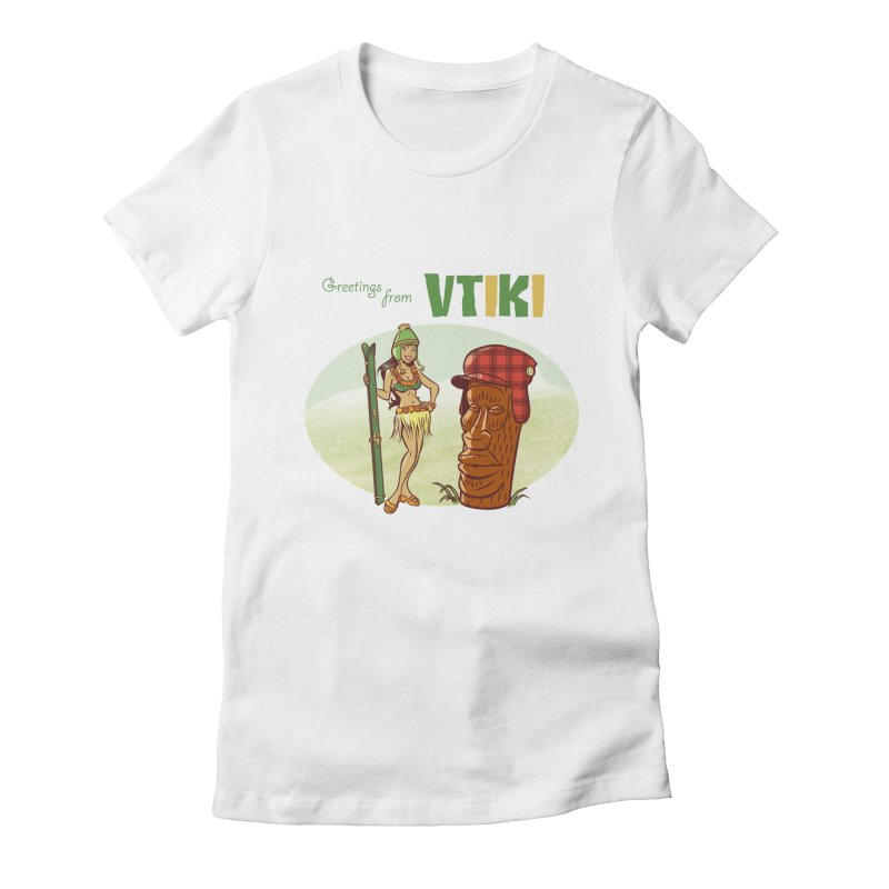 VTiki Women's Fitted T-Shirt by Acid Keg Industries