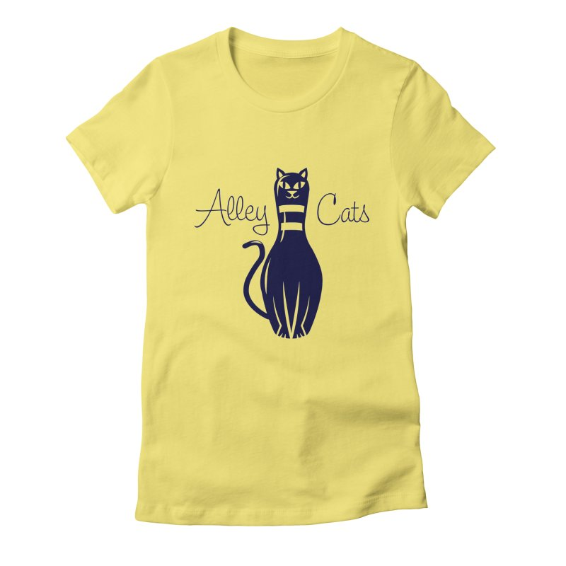 Alley Cats Women's Fitted T-Shirt by Acid Keg Industries