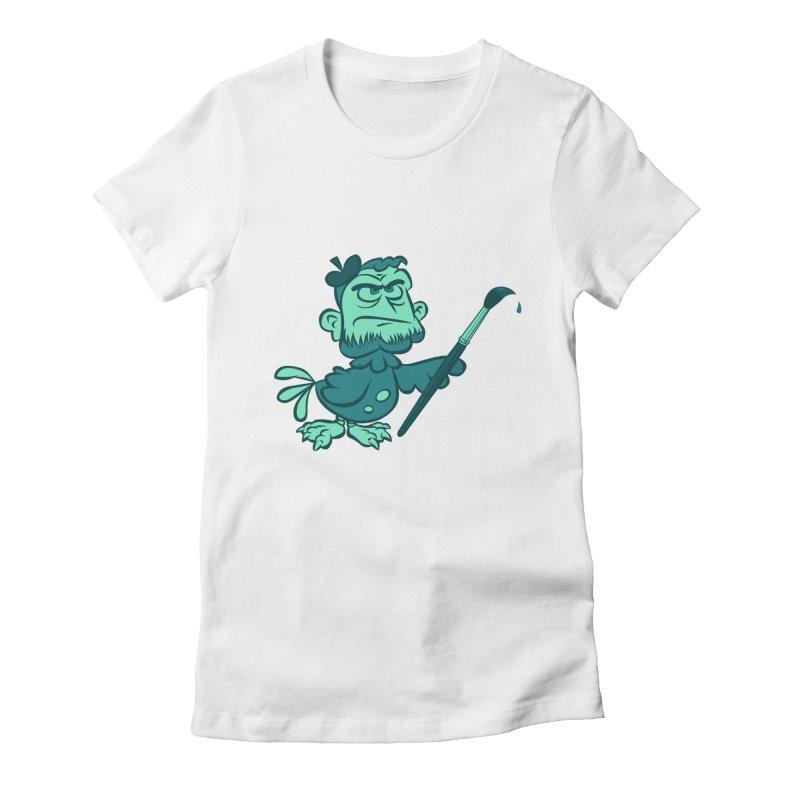 Art Women's Fitted T-Shirt by Acid Keg Industries