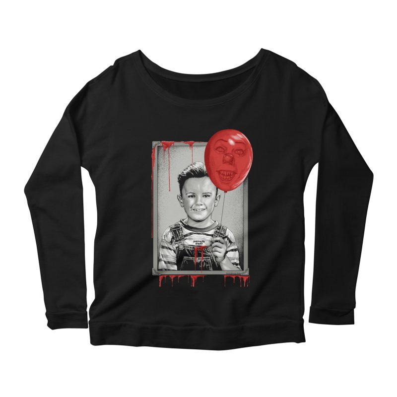 Pennywise Women's Longsleeve Scoopneck  by The Art Of Steven Luros Holliday