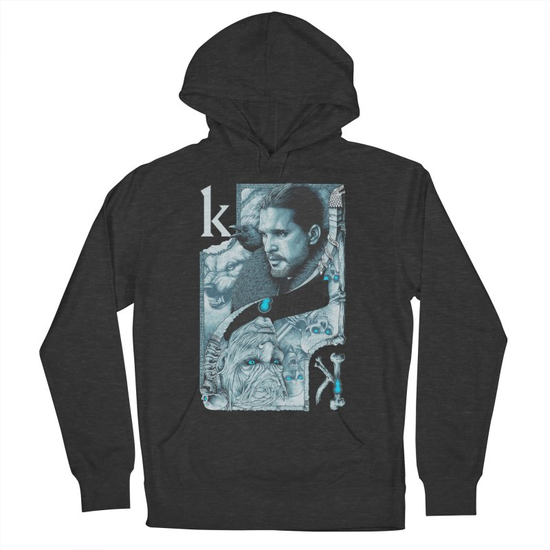 Kings In The North Men's French Terry Pullover Hoody by The Art Of Steven Luros Holliday
