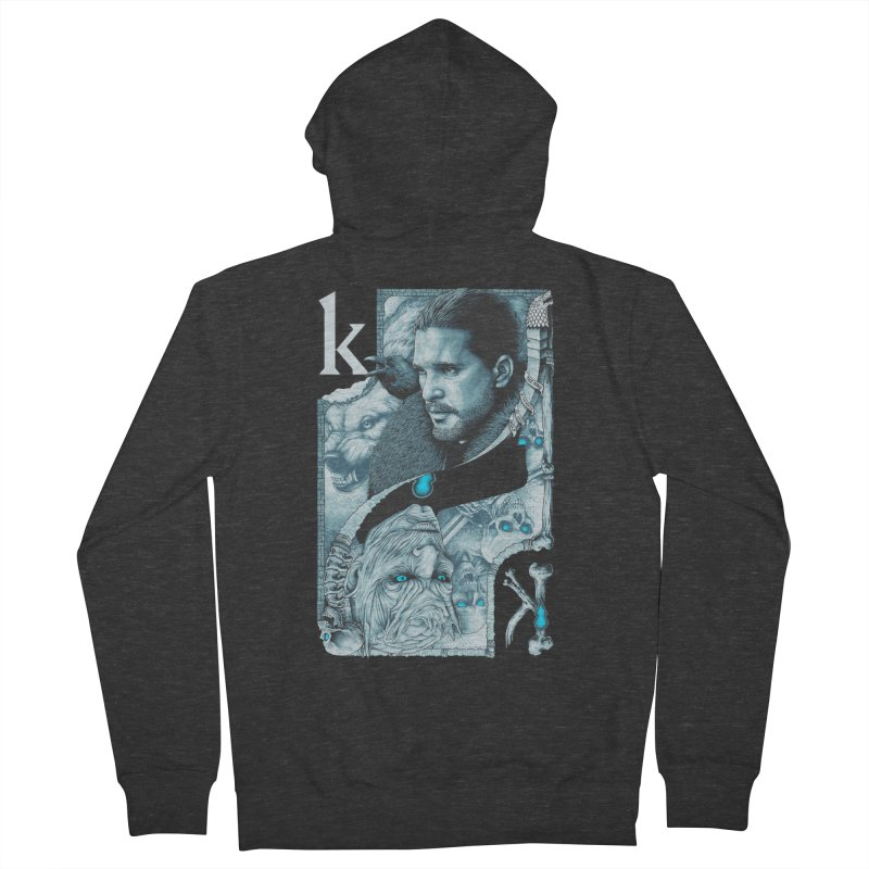 Kings In The North Women's French Terry Zip-Up Hoody by The Art Of Steven Luros Holliday