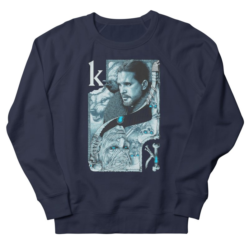 Kings In The North Men's French Terry Sweatshirt by The Art Of Steven Luros Holliday