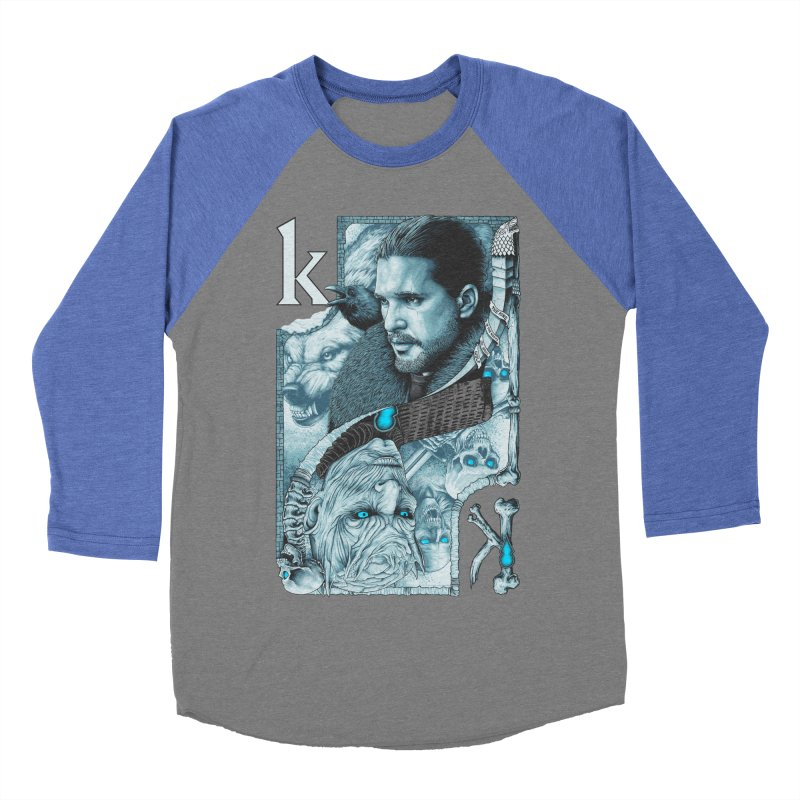 Kings In The North Women's Baseball Triblend Longsleeve T-Shirt by The Art Of Steven Luros Holliday