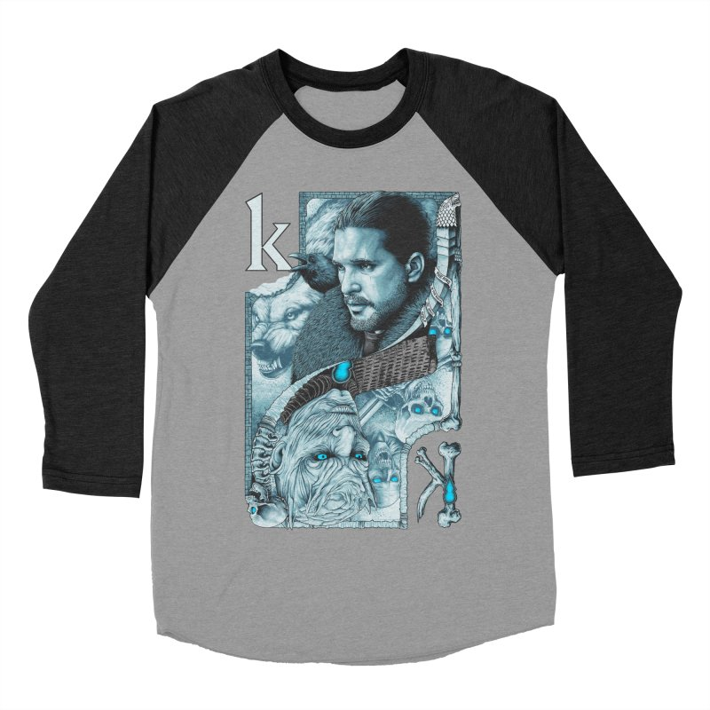 Kings In The North Men's Baseball Triblend Longsleeve T-Shirt by The Art Of Steven Luros Holliday