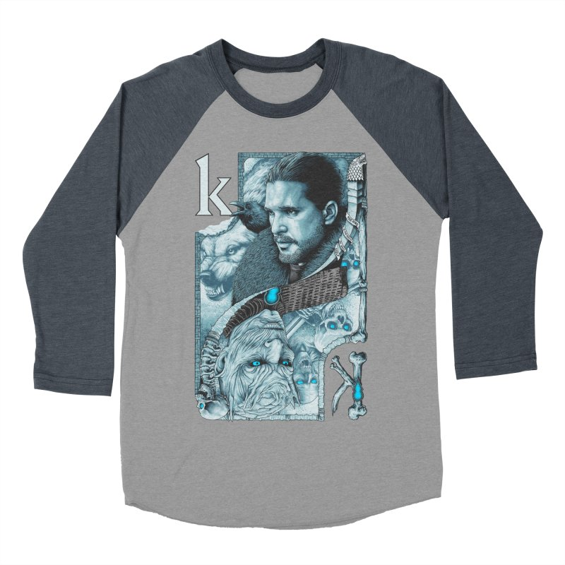 Kings In The North Men's Baseball Triblend T-Shirt by The Art Of Steven Luros Holliday