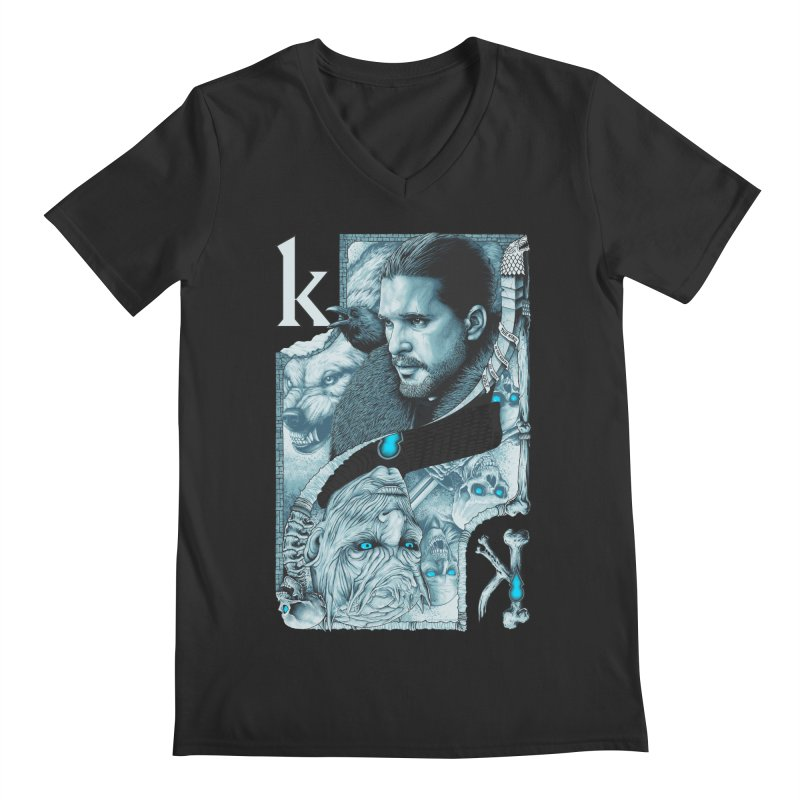 Kings In The North Men's Regular V-Neck by The Art Of Steven Luros Holliday
