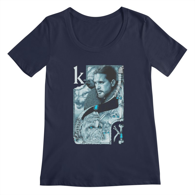 Kings In The North Women's Scoopneck by The Art Of Steven Luros Holliday
