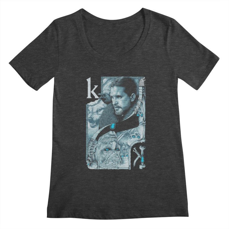 Kings In The North Women's Regular Scoop Neck by The Art Of Steven Luros Holliday