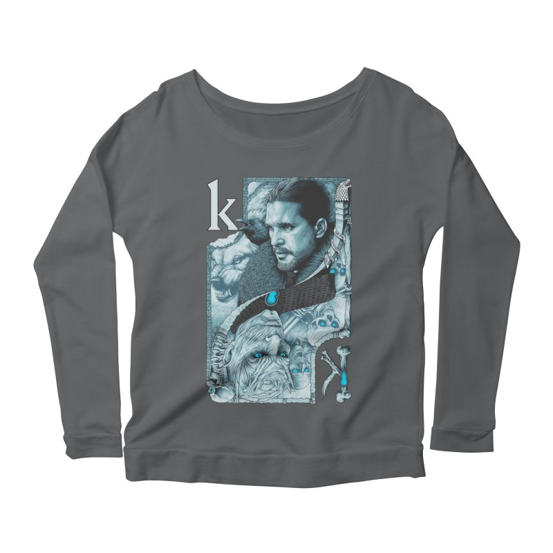 Kings In The North Women's Scoop Neck Longsleeve T-Shirt by The Art Of Steven Luros Holliday