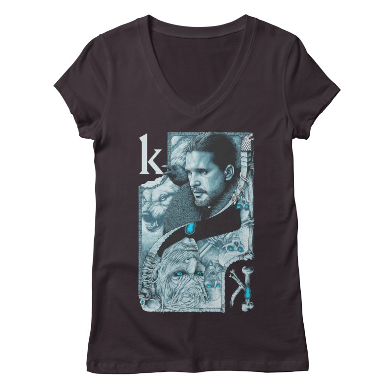 Kings In The North Women's Regular V-Neck by The Art Of Steven Luros Holliday