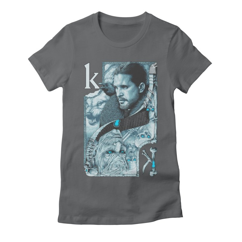 Kings In The North Women's Fitted T-Shirt by The Art Of Steven Luros Holliday
