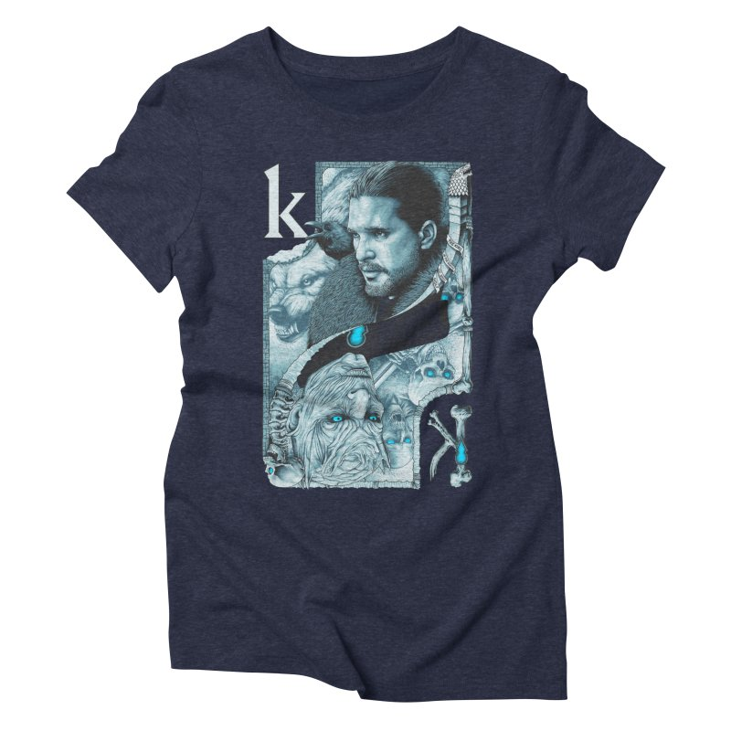 Kings In The North Women's Triblend T-Shirt by The Art Of Steven Luros Holliday