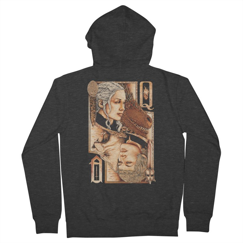 Queens In The South Women's French Terry Zip-Up Hoody by The Art Of Steven Luros Holliday