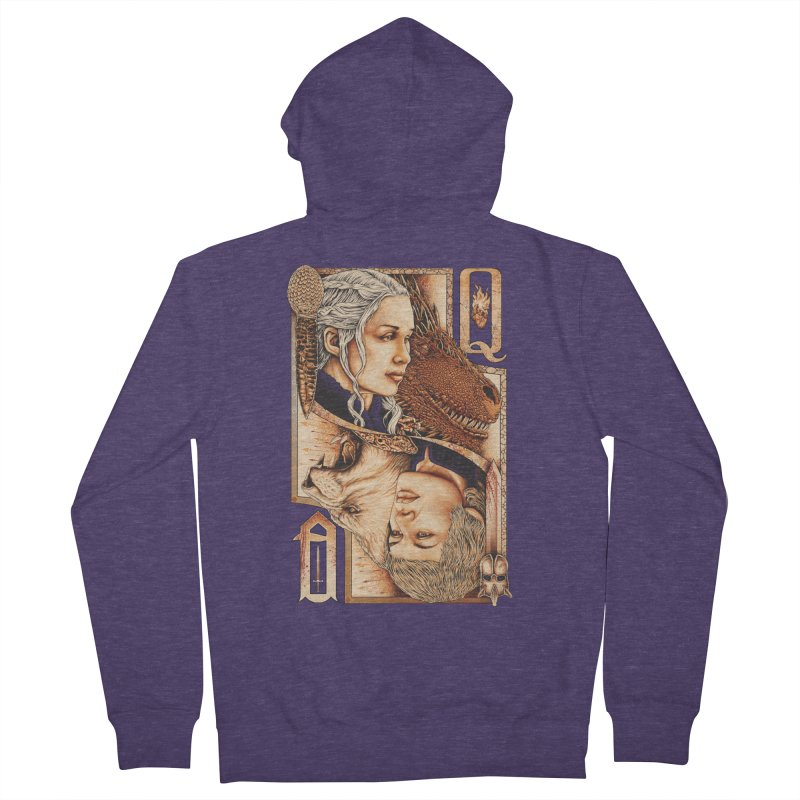 Queens In The South Men's French Terry Zip-Up Hoody by The Art Of Steven Luros Holliday