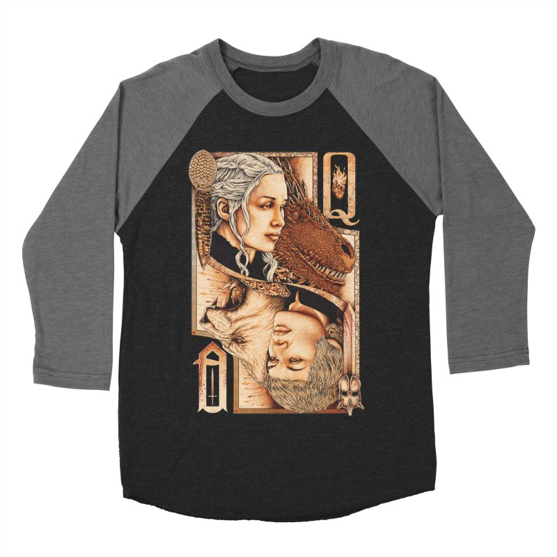 Queens In The South Women's Baseball Triblend Longsleeve T-Shirt by The Art Of Steven Luros Holliday