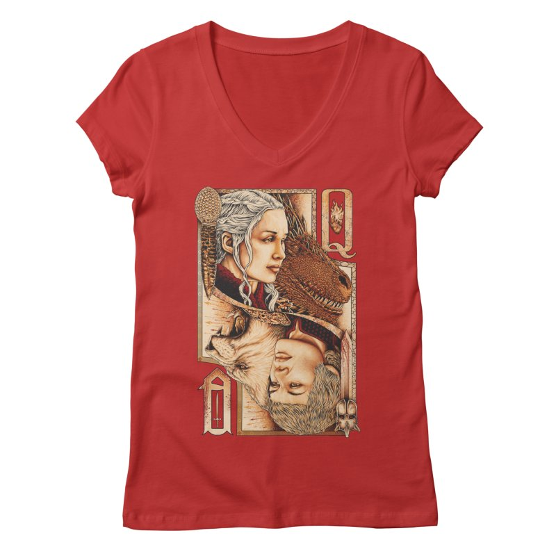 Queens In The South Women's Regular V-Neck by The Art Of Steven Luros Holliday