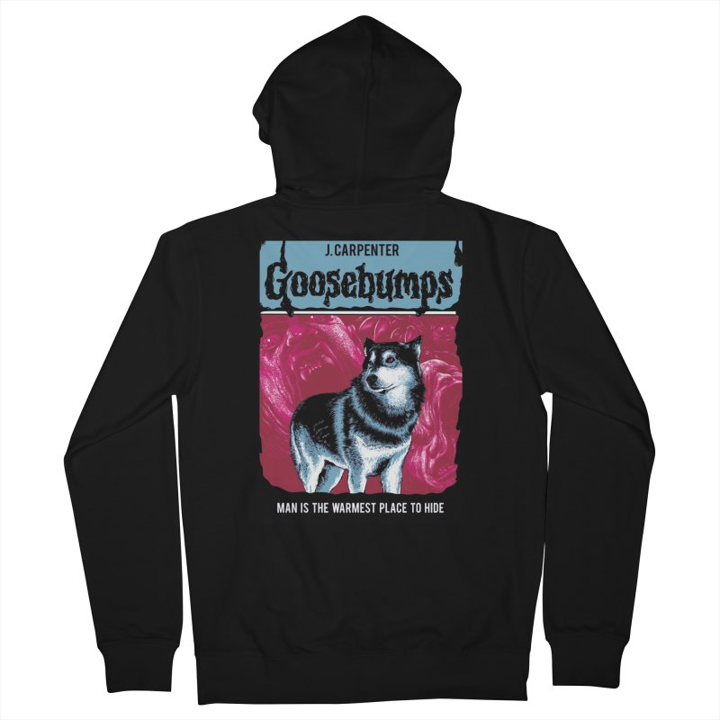 Man Is The Warmest Place To Hide (Black) Women's Zip-Up Hoody by The Art Of Steven Luros Holliday