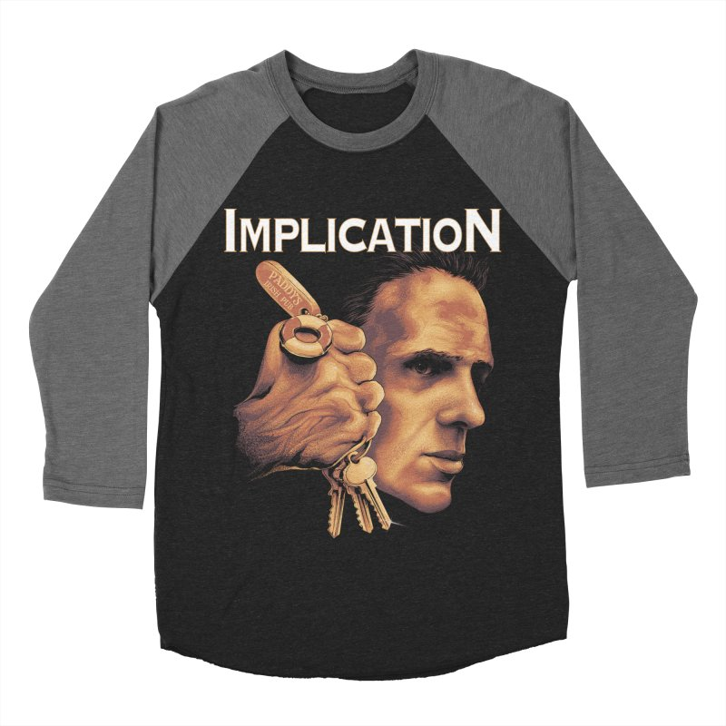 Implication in Men's Baseball Triblend Longsleeve T-Shirt Grey Triblend Sleeves by The Art Of Steven Luros Holliday