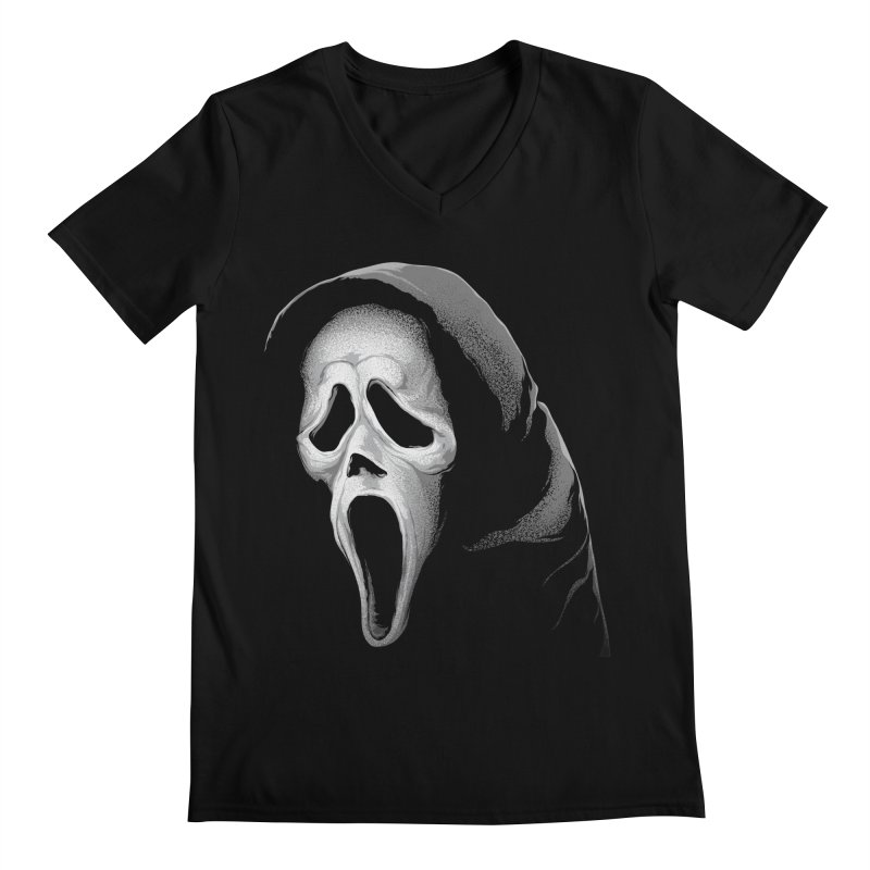 What's Your Favorite Scary Movie Men's V-Neck by The Art Of Steven Luros Holliday