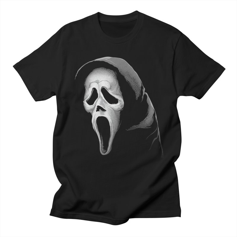 What's Your Favorite Scary Movie in Men's Regular T-Shirt Black by The Art Of Steven Luros Holliday