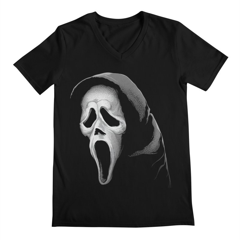 What's Your Favorite Scary Movie Men's Regular V-Neck by The Art Of Steven Luros Holliday