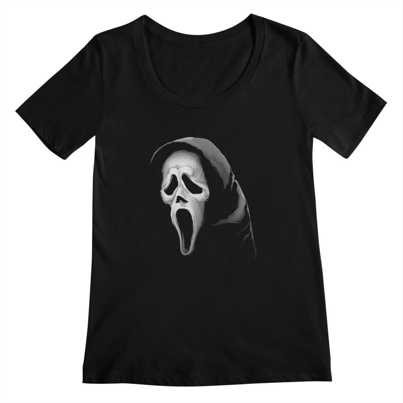 What's Your Favorite Scary Movie Women's Scoopneck by The Art Of Steven Luros Holliday