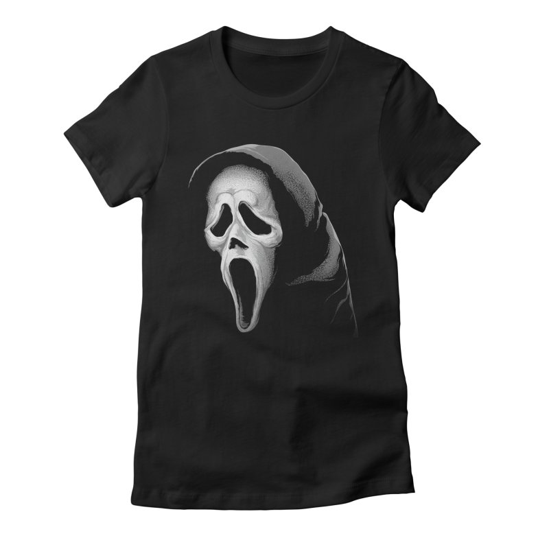 What's Your Favorite Scary Movie Women's Fitted T-Shirt by The Art Of Steven Luros Holliday