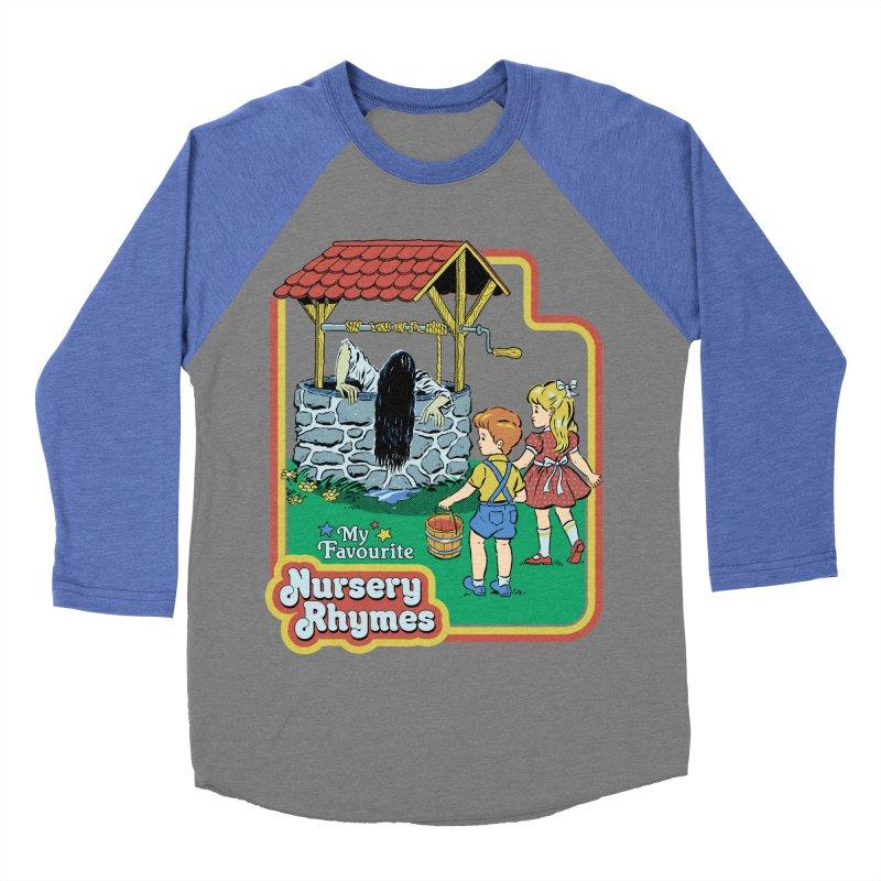 My Favourite Nursery Rhymes Men's Baseball Triblend Longsleeve T-Shirt by Steven Rhodes