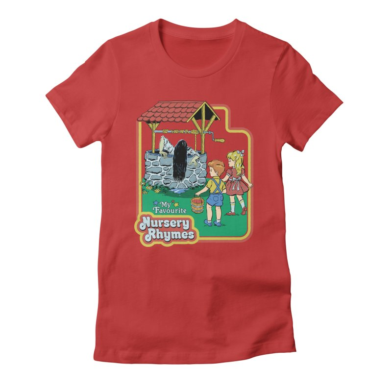My Favourite Nursery Rhymes Women's Fitted T-Shirt by Steven Rhodes