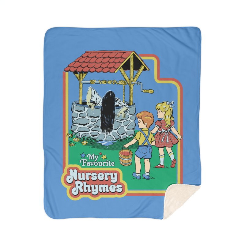 My Favourite Nursery Rhymes Home Sherpa Blanket Blanket by Steven Rhodes