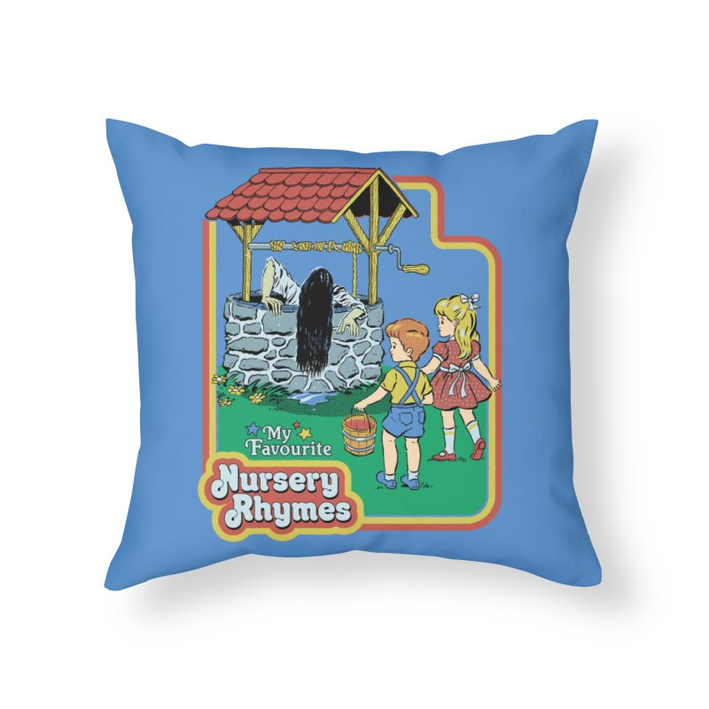 My Favourite Nursery Rhymes Home Throw Pillow by Steven Rhodes