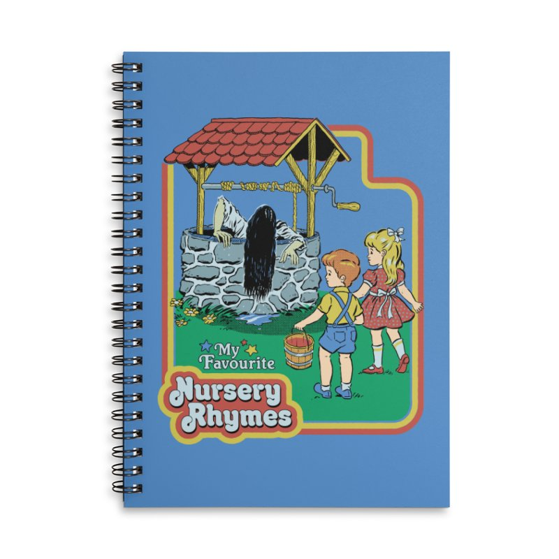 My Favourite Nursery Rhymes Accessories Lined Spiral Notebook by Steven Rhodes