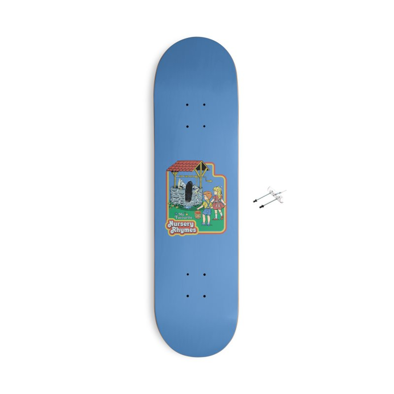 My Favourite Nursery Rhymes Accessories With Hanging Hardware Skateboard by Steven Rhodes