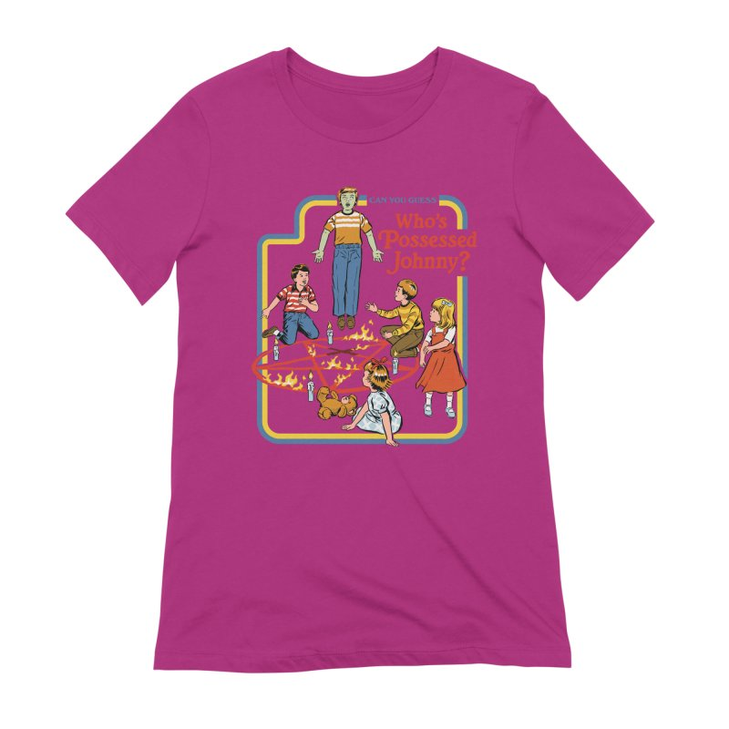 Who's Possessed Johnny? Women's Extra Soft T-Shirt by Steven Rhodes