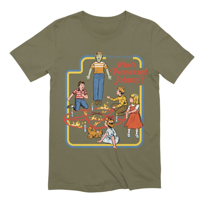 Who's Possessed Johnny? Men's Extra Soft T-Shirt by Steven Rhodes