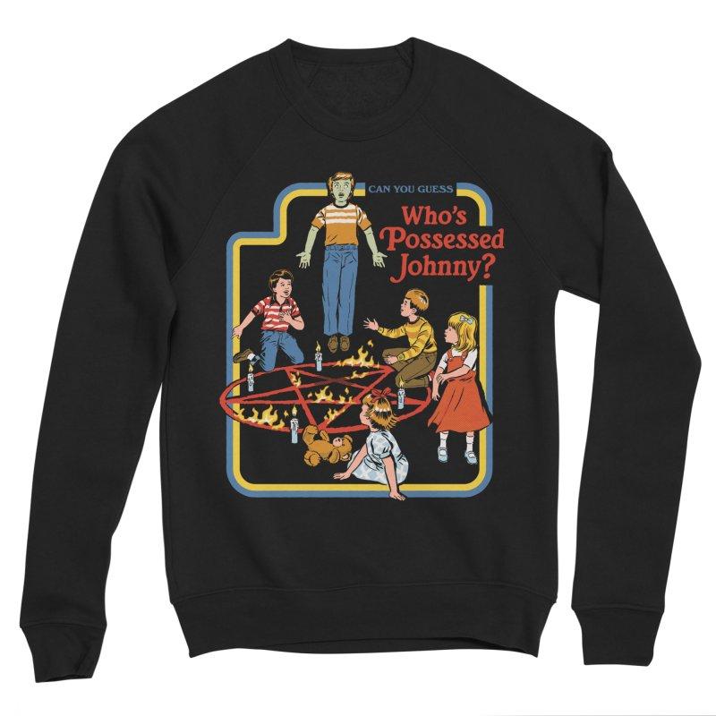 Who's Possessed Johnny? Men's Sponge Fleece Sweatshirt by Steven Rhodes