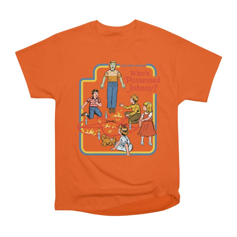 Who's Possessed Johnny? Men's Heavyweight T-Shirt by Steven Rhodes
