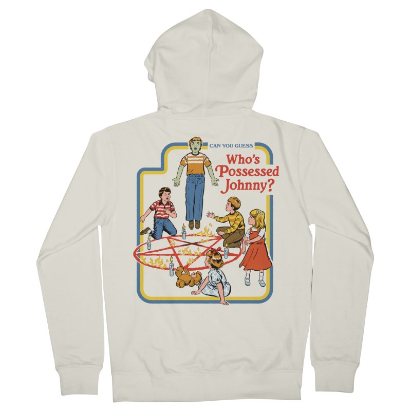 Who's Possessed Johnny? Women's French Terry Zip-Up Hoody by Steven Rhodes